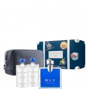 Bulgari Blu Pour Homme Confezione 100 ML Eau de Toilette + 2 x 75 ML After Shave Balm + Pouch