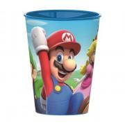 Super Mario műanyag pohár kék