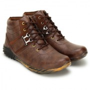 Crown Sapphire Casual Boots For Men (Brown 6 UK)