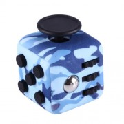 Camouflage Pattern Fidget Cube Relieves Stress and Anxiety Attention Toy for Children and Adults(Blue)