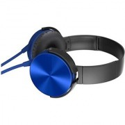 Mettle XB450 Wired Headphone With Mic (Blue Over the Ear)