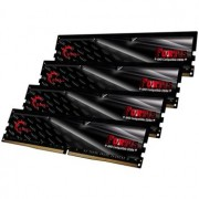 Memorie G.Skill Fortis Black 64GB (4x16GB) DDR4 2400MHz CL16 1.2V AMD Ryzen Ready Dual Channel Quad Kit, F4-2400C16Q-64GFT