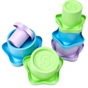 Green ToysStapelmuggar, 6 st