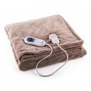 Klarstein Dr. Watson XXL електрическо одеяло120W, 200x180cm, плюш, бежов цвят (HZD2-Dr.Watson-XXLBG)