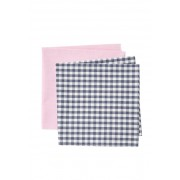 Nordstrom Claire Check Pocket Square s - Set of 2 MULTI