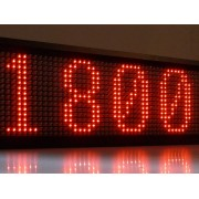 Firma Luminoasa Panou Afisaj cu LEDuri Lumina Rosie 100x70cm