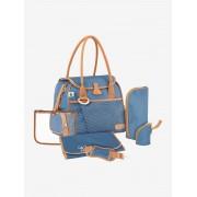 BABYMOOV Saco muda-fraldas estilo bolsa da BABYMOOV azul medio estampado