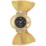 The Shopoholic Round Dial Gold Strap Analog Watch For Women