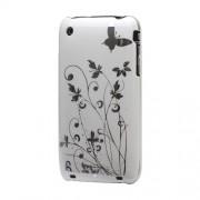 GadgetBay Coque rigide pour iPhone 3 3G et 3GS - Fleur délicate, bel imprimé - Blanc