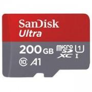 Карта памет SANDISK Ultra, microSD, UHS-I, 200GB Class 10, U1, A1, 100 Mb/s, + SD Adapter, SD-SDSQUAR-200G-GN6MA