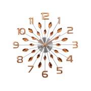 Třpytivé paprskovité velké Rose gold hodiny LAVVU CRYSTAL Sun LCT1192