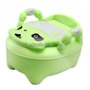 Alcoa Prime Kids Toddler Throne Potty Seat Toilet Training Chair Removable Lid Green