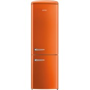 Combina frigorifica Gorenje Retro ORK192O, Frost Less, A++, 326 l, Control electronic, H 194 cm, Portocaliu