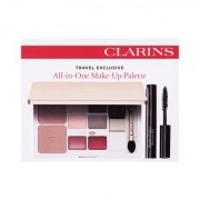 Clarins Wonder Perfect 4D tonalità 01 Intense Black confezione regalo mascara 3 ml + blush 2 x 3,4 g + ombretto 4 x 0,7 g + rossetto 2 x 0,6 g donna