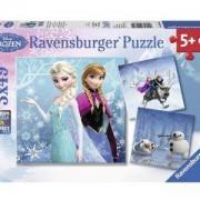Пъзел Ravensburger 3х49 елемента, Замръзналото кралство, 700650