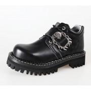 KMM cipő 4dírkové - Big Skull Black Full - 030