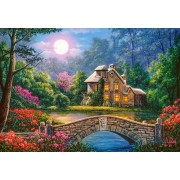 Puzzle Castorland - Cottage in the Moon Garden, 1.000 piese (104208)