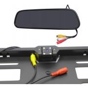 """Kamera v držáku SPZ bezdrátová + 4,3"""" LCD zrcadlo"""
