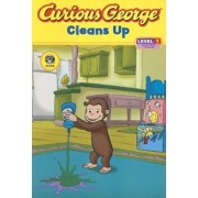 Curious George Cleans Up: Level 1: Curious about Technology, Paperback/H. A. Rey