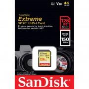 SanDisk Extreme SDXC-Speicherkarte 128 GB, UHS-I Class 3 (U3) / V30, 150 MB/s
