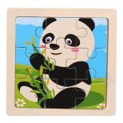 Tamaño Mini Kids Toy Wood Rompecabezas Jigsaw Puzzle 3D De Madera Para