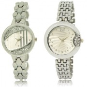 The Shopoholic Silver Combo Fashionable Funky Look Silver Dial Analog Watch For Girls Fashion Watches For Womens
