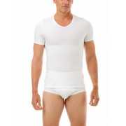 Underworks Shapewear MagiCotton V Neck Compression Short Sleeved T Shirt White 985100