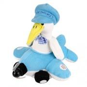 Ruhiku GW Funny Animated Plush Toy Dog/ Chimpanzee/ Elephant/ Doll Singing Stuffed Animal Soft Plush Kids Toys (LED Fan Duck)