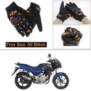 AutoStark Gloves KTM Bike Riding Gloves Orange and Black Riding Gloves Free Size For Bajaj Pulsar