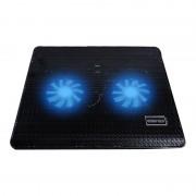 10-15 Inch Notebook Radiator Zwart Laptop Radiator Grote Fan Koeling Base Met 2 Koelventilatoren
