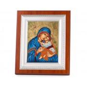 Icoana Maica Domnului si Pruncul Iisus placata cu aur - Credan, made in Spain