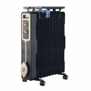 Радиатор ZEPHYR ZP 1971 G11, 2500W, 11 ребра, 3 степени, Поставка за дрехи, Регулируем термостат, Черен
