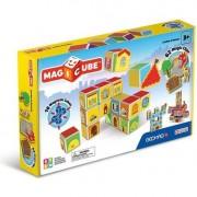 Set de constructie magnetic Geomag, Castles & Homes, 16 piese