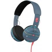 Casti SkullCandy Grind Stripes Navy, Jack 3.5mm, Microfon (Albastru)