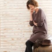 Provador 中わた入り暖かキルトジャカードワンピース【QVC】40代・50代レディースファッション