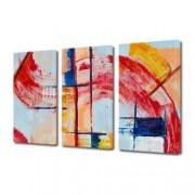 Tablou Canvas Premium Abstract Multicolor Geometrie In Culori Decoratiuni Moderne pentru Casa 3 x 70 x 100 cm