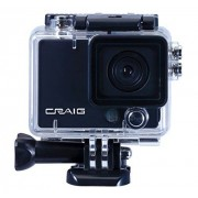 Craig Electronics CCR9029 HD 1080P cámara de acción y Grabador de vídeo (Negro)