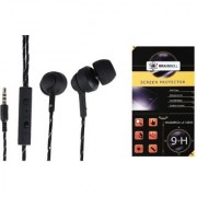 BrainBell UBON UH-997 HIGH RESOLUTION EARPHONE And GIONEE A1 Tempered Guard
