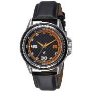 Fastrack Quartz Black Round Men Watch 3142SL01