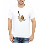 DOUBLE F ROUND NECK HALF SLEEVE WHITE COLOR WILD ANIMAL PRINTED T-SHIRTS