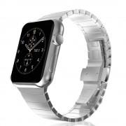 Stainless Steel Watch Strap Link Bracelet for Apple Watch Series 4 44mm/3/2/1 42mm - Silver