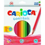 Creioane colorate hexagonale CARIOCA 24 culori-cutie
