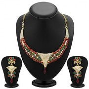 Sukkhi Creative Gold Plated Meenakari AD Necklace Set for Women