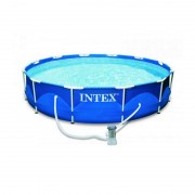 Piscina cu cadru metalic, Intex 28212NP, rotunda, cu pompa de filtrare, 366 x 76 cm