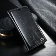Samsung Galaxy S6 rustiek leren boekhoesje zwart
