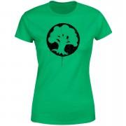 Magic The Gathering Green Mana Splatter Women's T-Shirt - Kelly Green - XL - Kelly Green