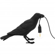 Seletti Bird Waiting tafellamp zwart