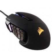 Mишка Corsair Gaming Scimitar Pro RGB MOBA/MMO, оптична, 16000 dpi, 17 програмируеми бутона, USB, черна