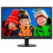 PHILIPS 18,5in LED, 1366 x 768, 16:9, 200 cd/mý, vga, 5ms, vesa 100*100, nero, SmartContrast: 10,000,000:1