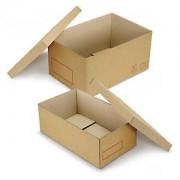 Caisse carton Galia double cannelure avec couvercle renforcé 60x40x30 cm